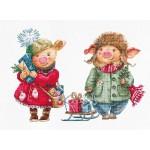 B1161 Коледни прасенца