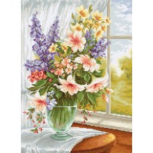 BU4015 Цветя на прозореца