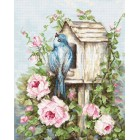B2352 Къщичка за птици и рози