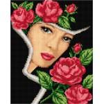 AB002 Дама с рози - ЩАМПА