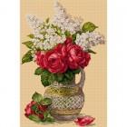Ваза с рози и люляк