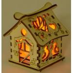 Светеща дървена къщичка - 2