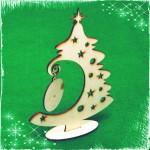 Дървена Коледна елха - сувенир за декорация