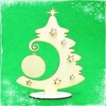 Дървена Коледна елха 2 - сувенир за декорация